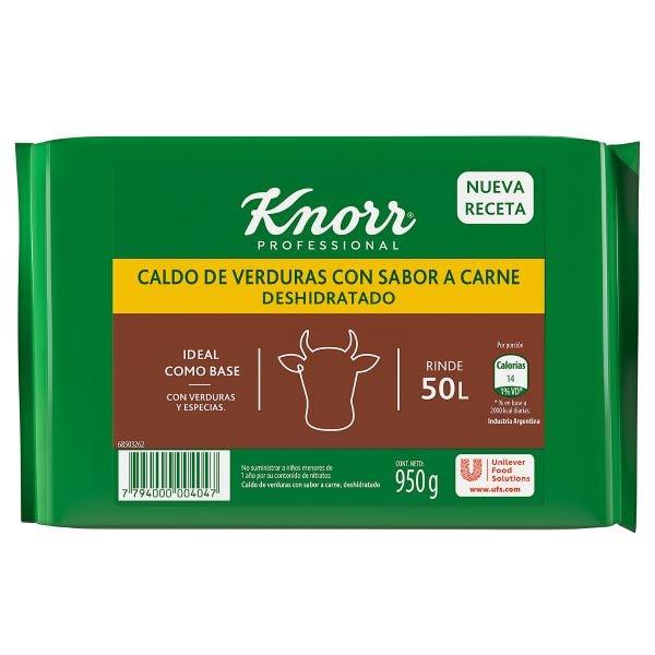 Caldo cubo sabor carne knorr 4x950g -