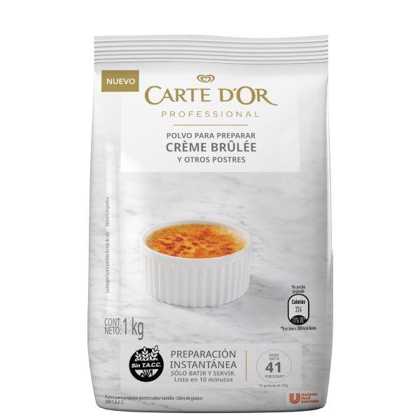 Crème Brûlée Carte D'or 6X1KG - Polvo para preparar la tradicional Crème Brûlée.