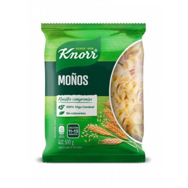 Fideos Moños Knorr 15x500G (Exclusivo de Argentina, Uruguay)