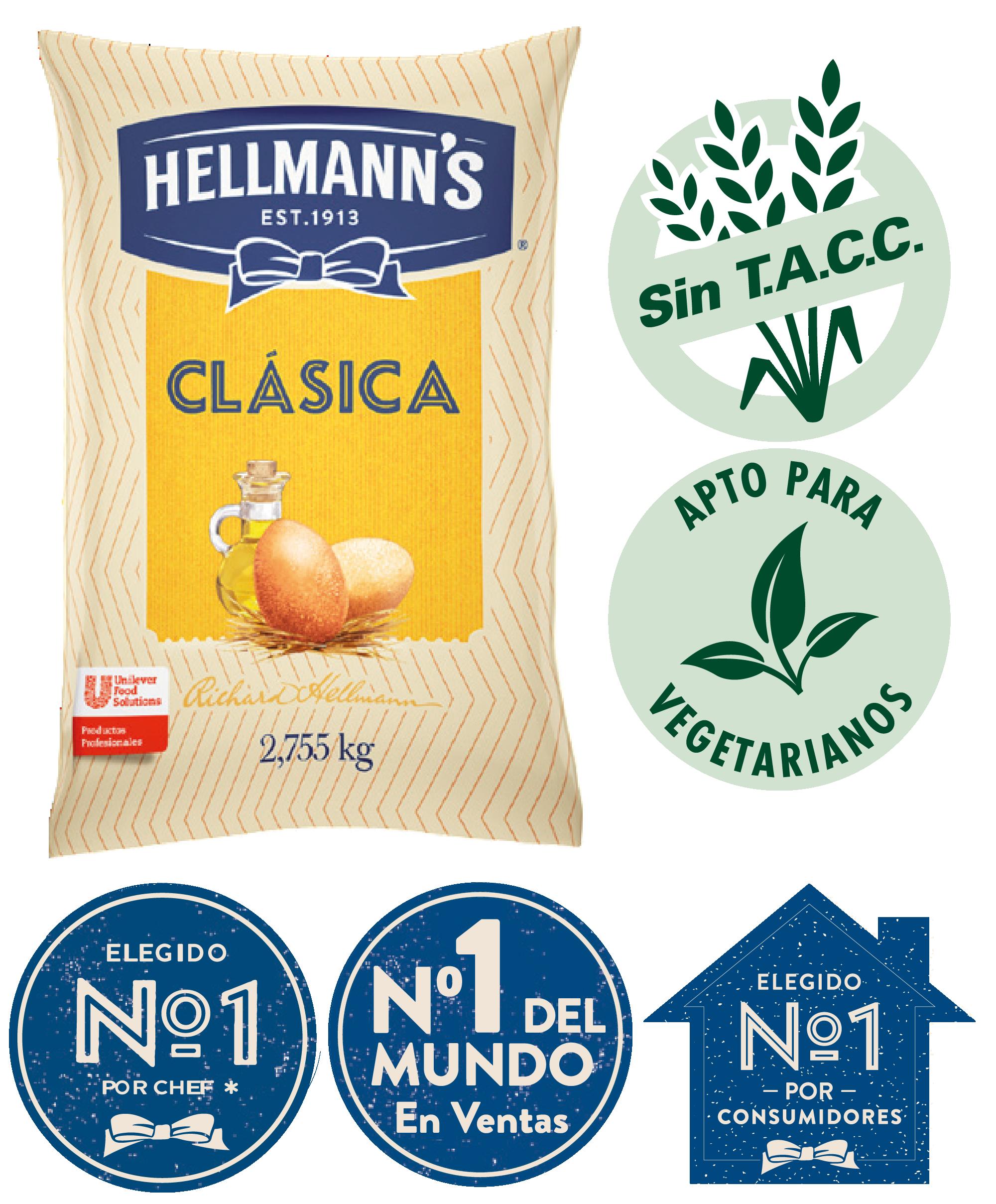 Mayonesa Clásica Hellmann's 2.9 KG - Proba el irresistible sabor de Hellmann's, ahora con huevos de campo y aceite de origen sustentable.
