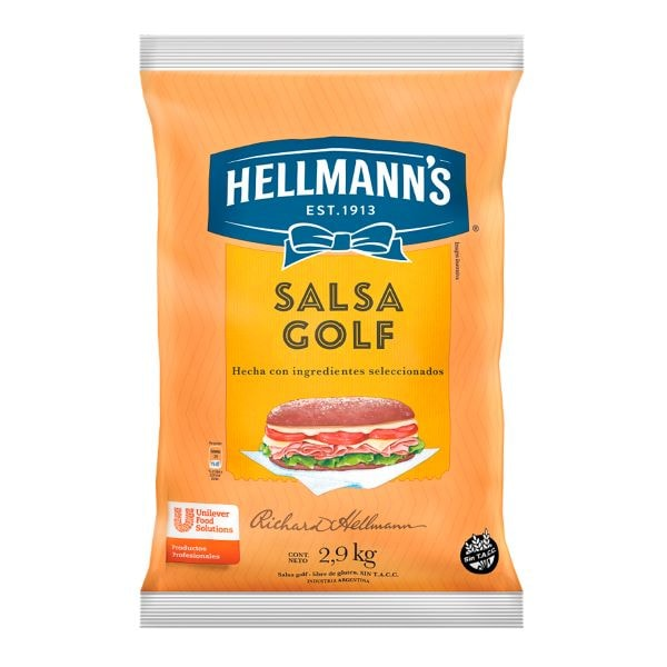 Salsa Golf Hellmann's 3x2.9kg (Exclusivo de Argentina, Uruguay) -
