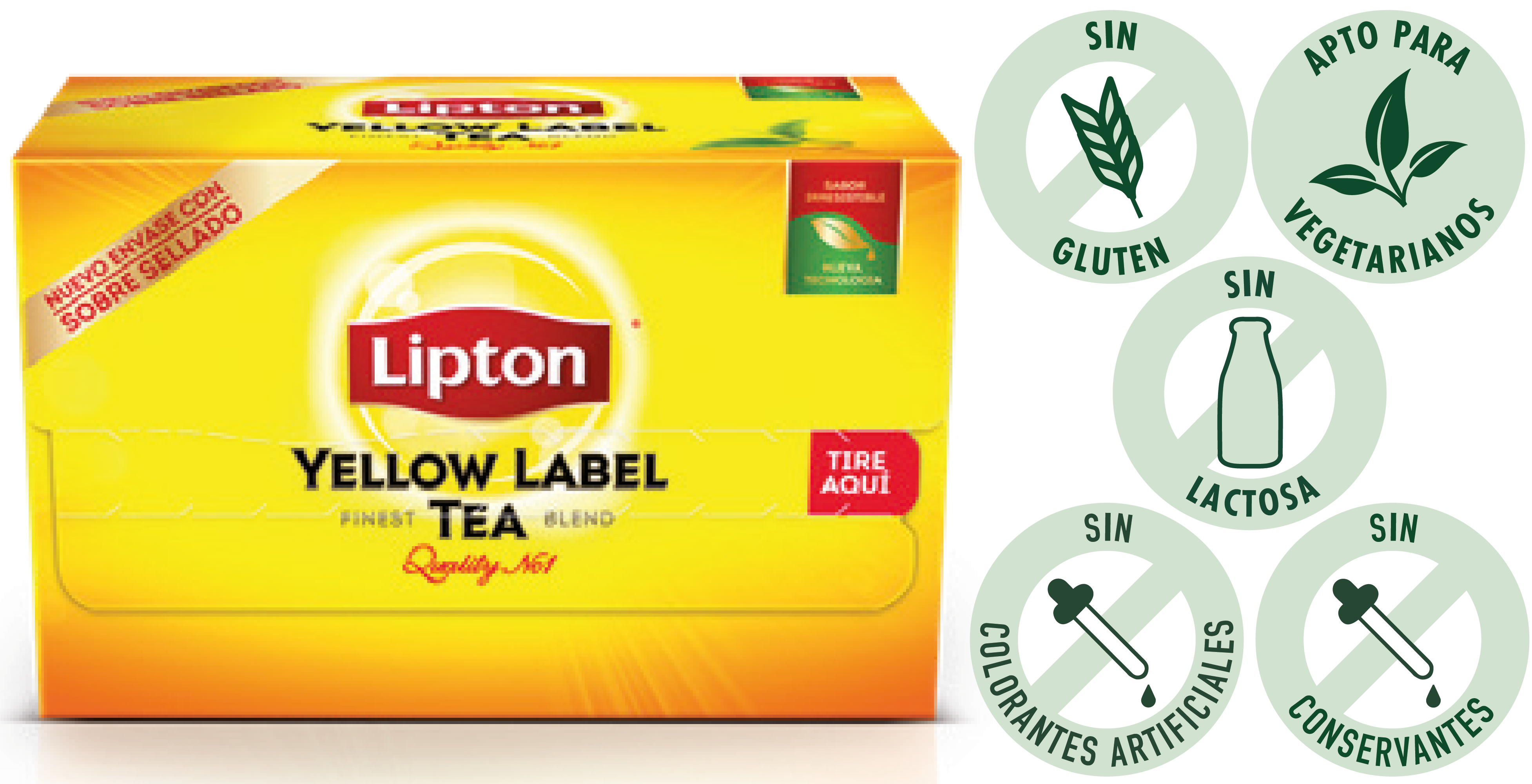 Té Yellow Label Exp Lipton 20 BLS (Exclusivo de Argentina) - Lipton, la marca n°1 de Té en el mundo!